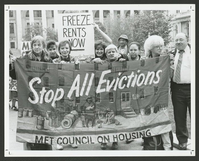 Stop All Evictions banner (1989).