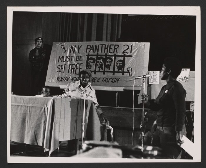 A tenant testifies at the People's Court Housing Crimes Trial (1970).
