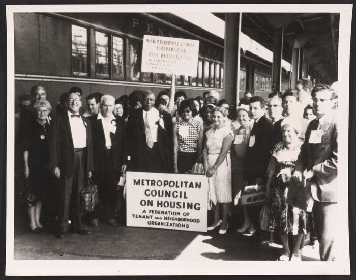Met Council on Housing delegation to the March on Washington for Jobs and Freedom (1963).