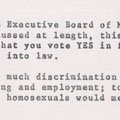 Letter from Met Council on Housing regarding discrimation against gays (1974).