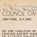 Met Council on Housing letter in support of a Civilian Review Board (1964).