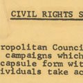 Met Council on Housing Civil Rights Supplement (1963).