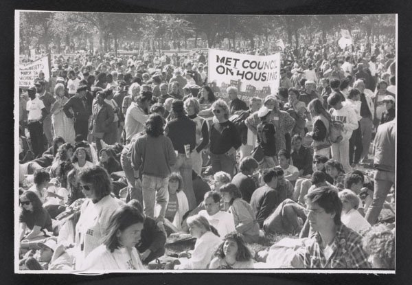 March on Washington against homelessness (1989).