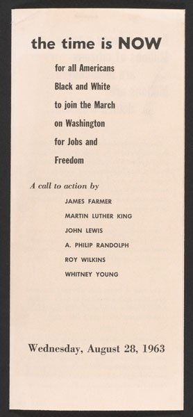 Pamphlet for the March on Washington for Jobs and Freedom (1963).